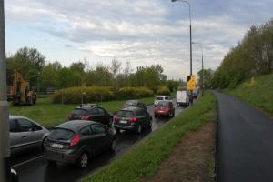 Remont Hetmańskiej w Poznaniu i korki także popołudniu [FILM]