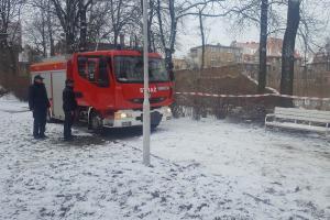 Zawaliło się betonowe ogrodzenie w parku Wilsona w Poznaniu