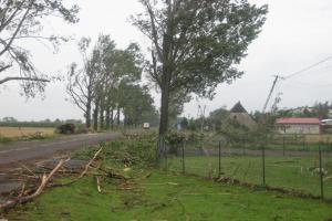 Gwałtowna burza w Wielkopolsce - aktualizacja