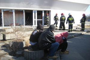 Pożar w budynku dawnego hotelu Mieszko