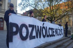 Ocalić Alfiego Evansa. Protest w Poznaniu