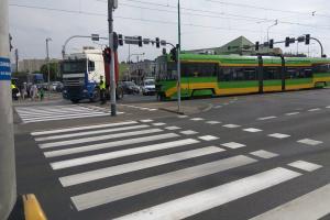 Tramwajowo-samochodowy paraliż w Poznaniu