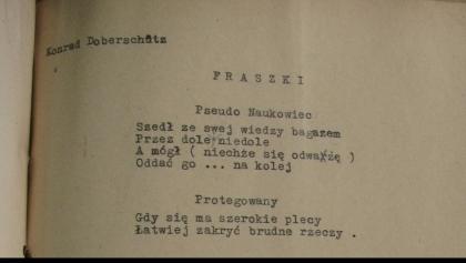 Zakazana Poezja – Konrad Doberschütz