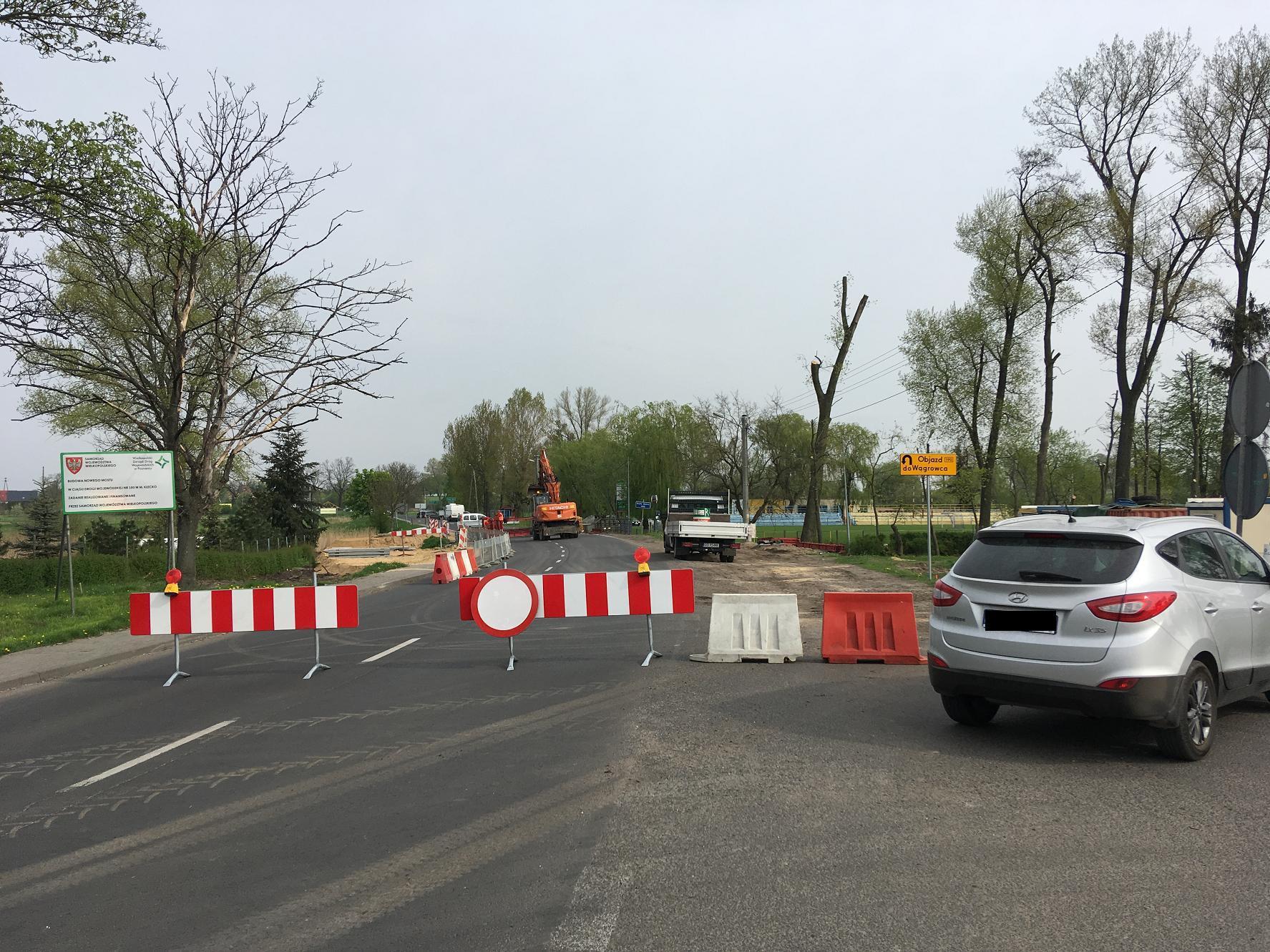 Remont w Kłecku. Spore utrudnienia na drodze wojewódzkiej nr 190