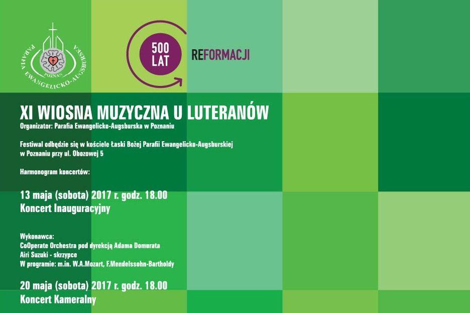 XI WIOSNA MUZYCZNA - Luteranie Poznań