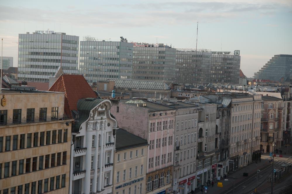 poznań panorama widok plac wolnosci - Leon Bielewicz