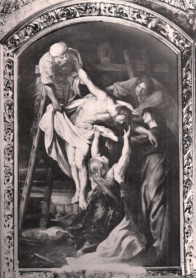 Zdjęcie z krzyża Rubens Kalisz - CC:Wikimedia Commons:Peter Paul Rubens - Władysław Kwiatkowski (1929). Obraz Rubensa w Kaliszu
