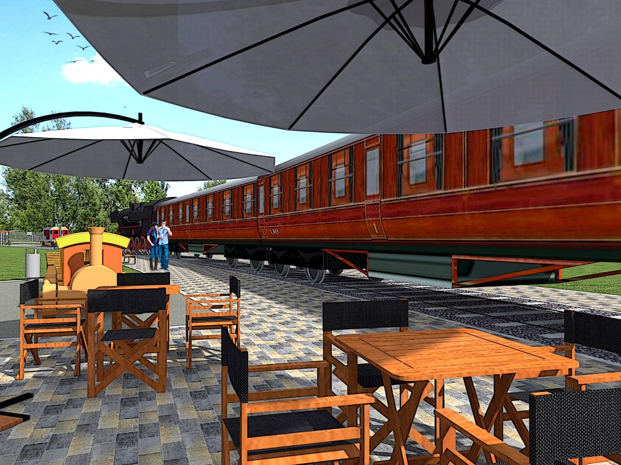 park Rataje wagon wizualizacja - skanska.pl