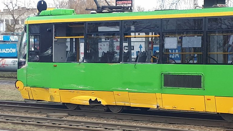 wypadek tramwaj starołęcka - MotoSygnały