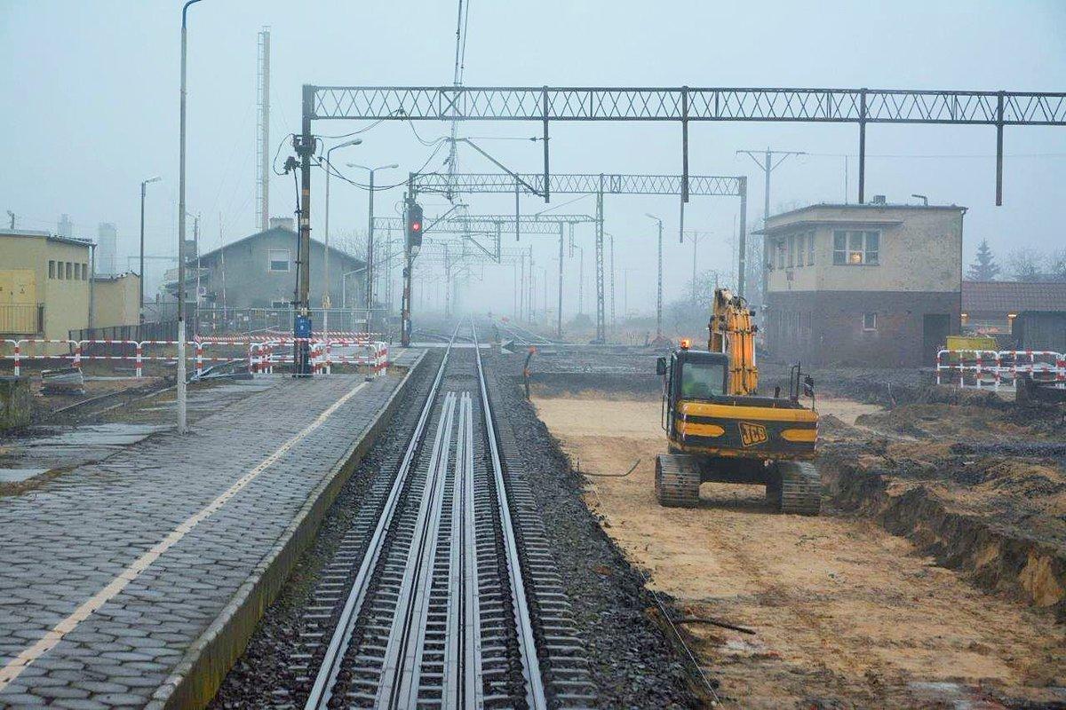 remont kolej E59 Leszno - PKP PLK