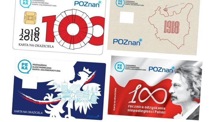 karty PEKA 100 niepodległości - Urząd Miasta Poznania