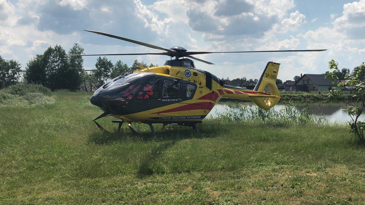 śmierć nad stawem lpr odolanów śmigłowiec helikopter - OSP KSRG Odolanów (Zdjęcie poglądowe)