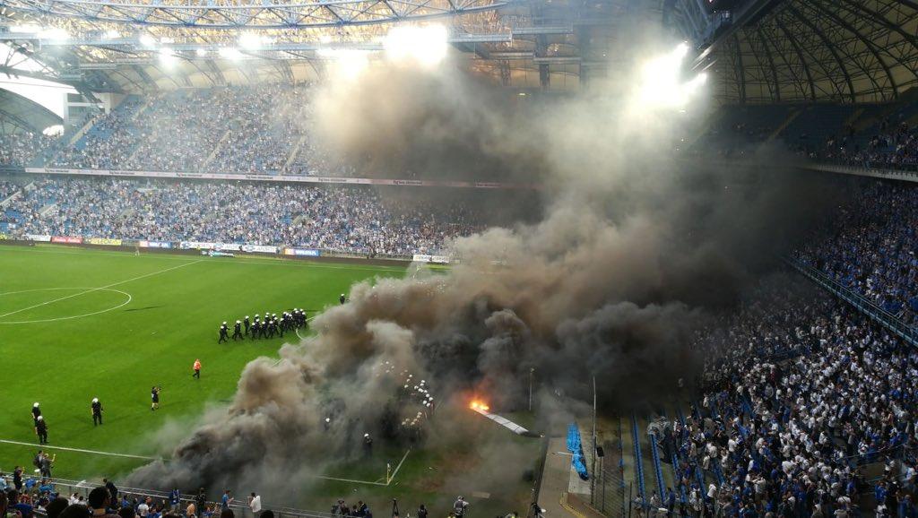 mecz lech legia maj 2018 - Andrzej Borowiak Twitter