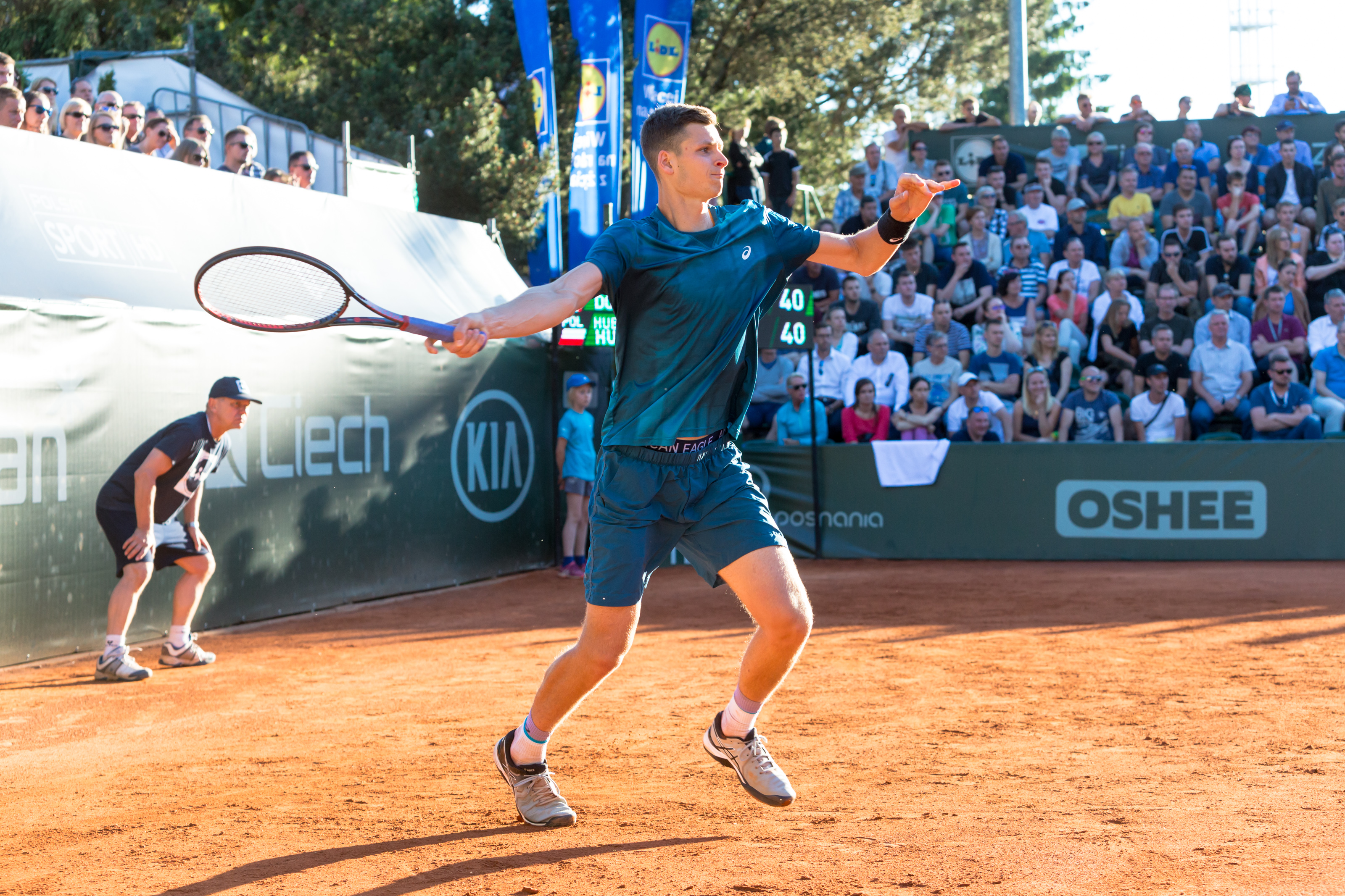 Hubert Hurkacz - Paweł i Piotr Rychter/Poznań Open - Paweł i Piotr Rychter/Poznań Open