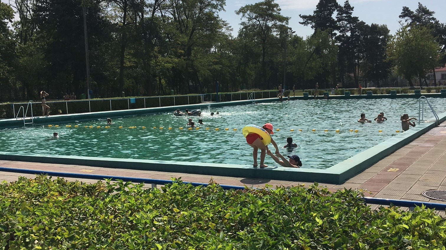 leszno basen upały lato - Jacek Marciniak