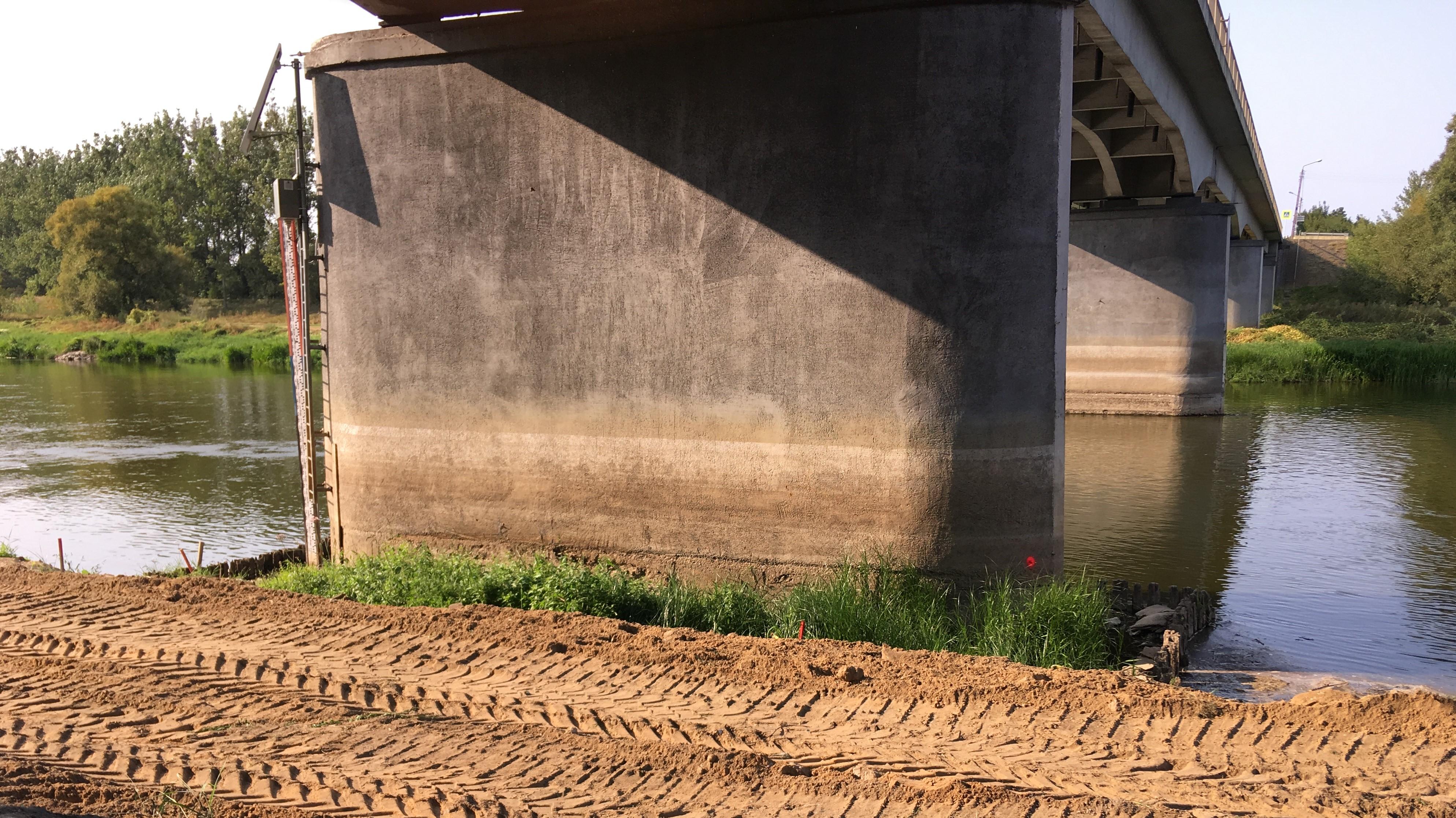 most we wronkach warta rzeka budowa roboty - Andrzej Ciborski