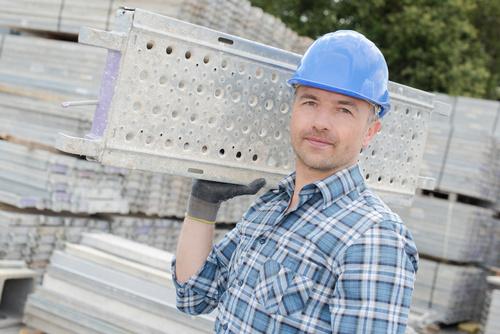 praca robotnik budowa kask inzynier - Fotolia