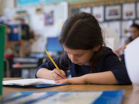 dziewczynka uczennica szkoła klasa - Fotolia