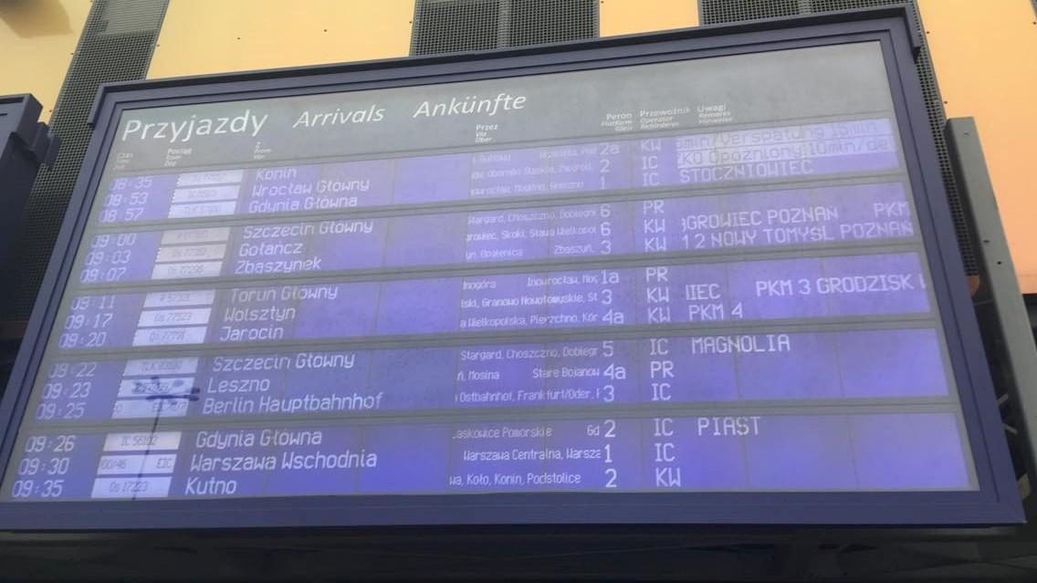 opóźnienia pociągów poznań - swarzędz PKP - Jacek Butlewski