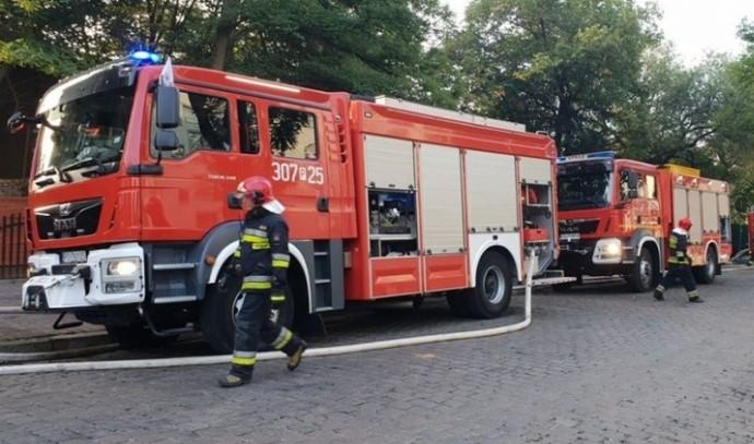 pożar straż pożarna - Wojtek Wardejn