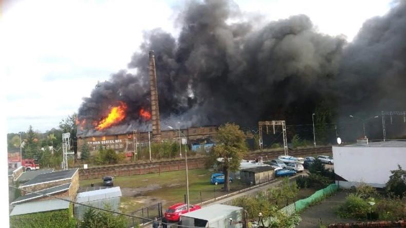 Pożar starej cegielni zbąszyń - Wielkopolska – Magazyn informacyjny