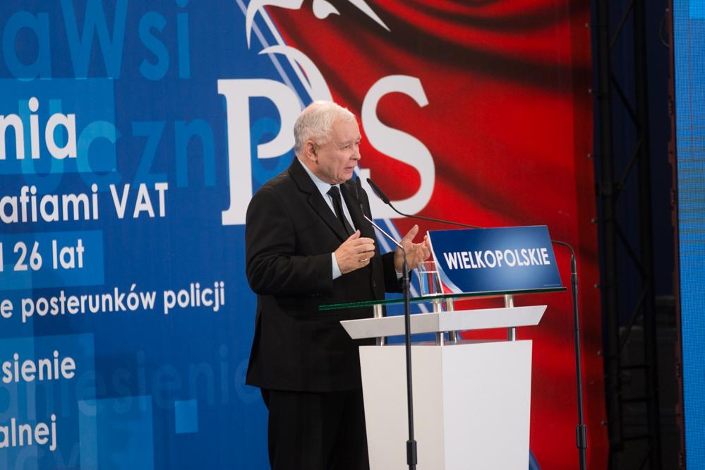 konwencja pis jarosław kaczyński prezes Prawa i Sprawiedliwość - Leon Bielewicz