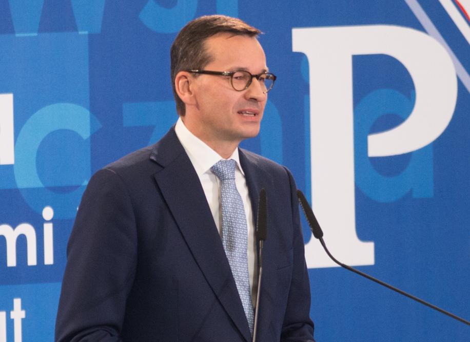 Premier Mateusz Morawiecki konwencja wyborcza Prawa i Sprawiedliwości w Poznaniu - Leon Bielewicz