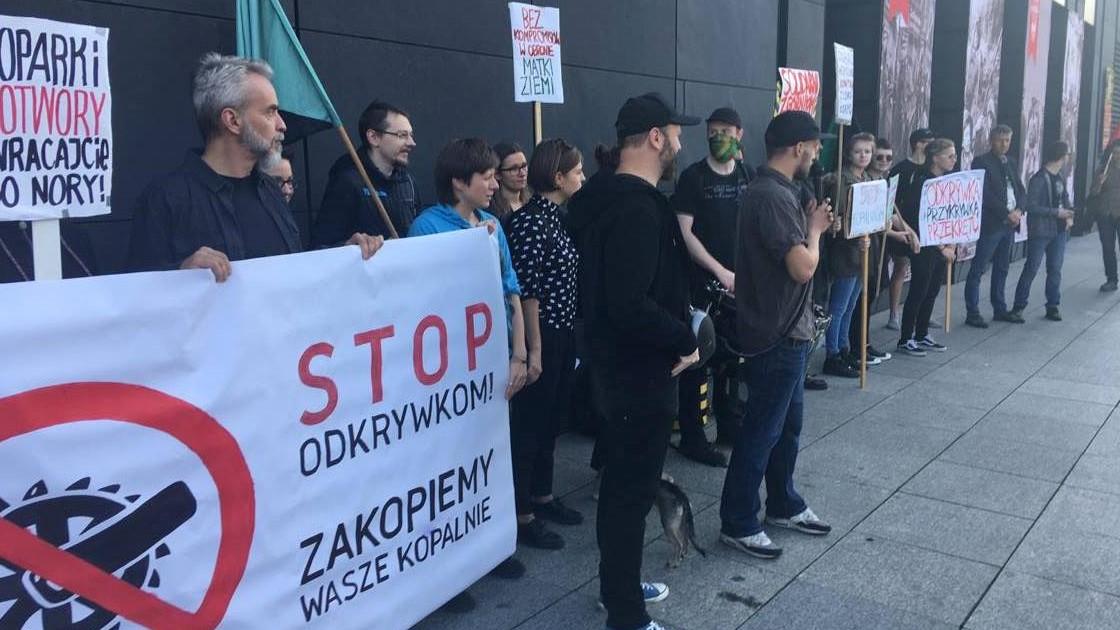 protest przeciwko odkrywkom - Jacek Butlewski