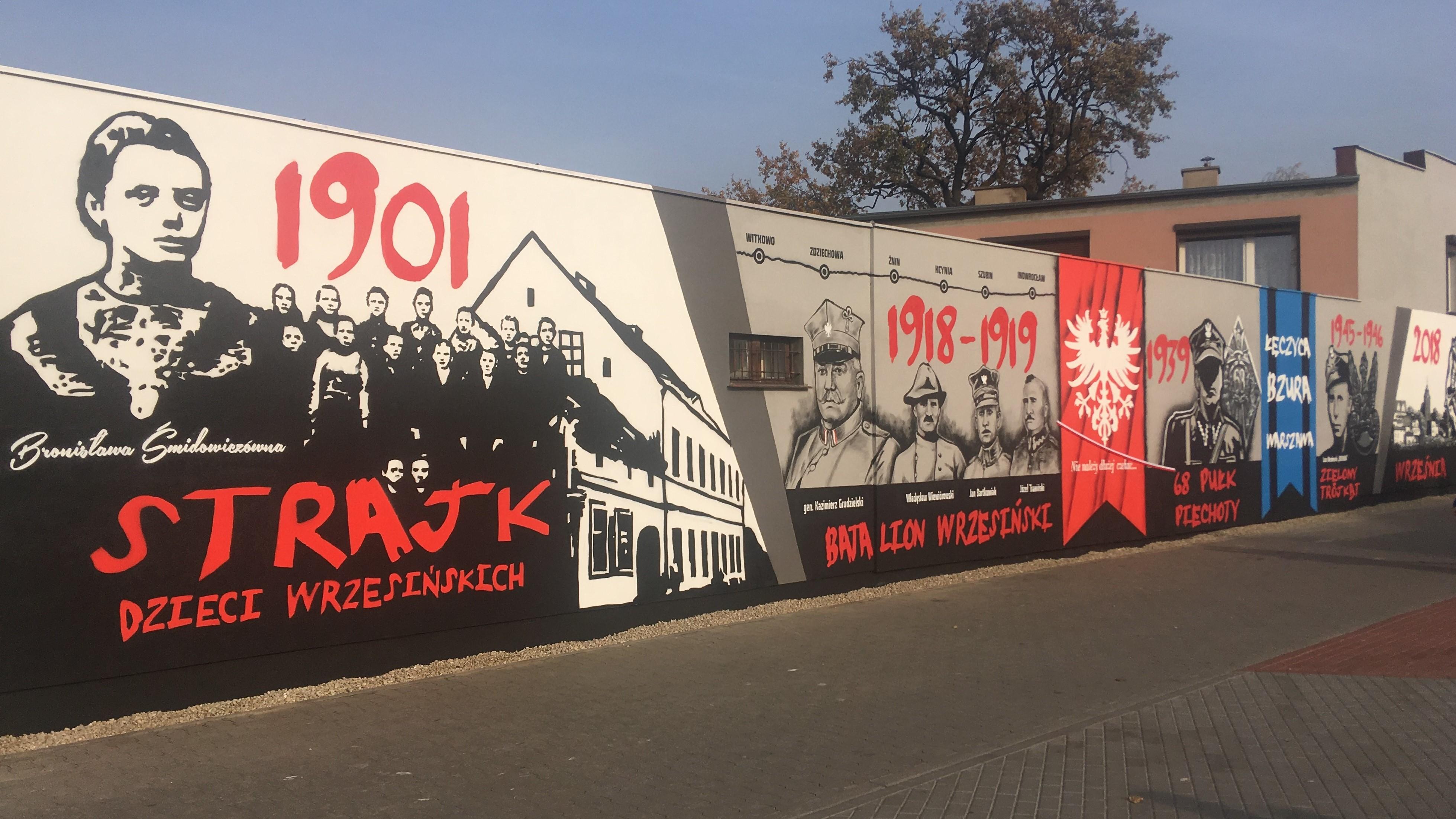 mural niepodległościowy we wrześni - Rafał Regulski