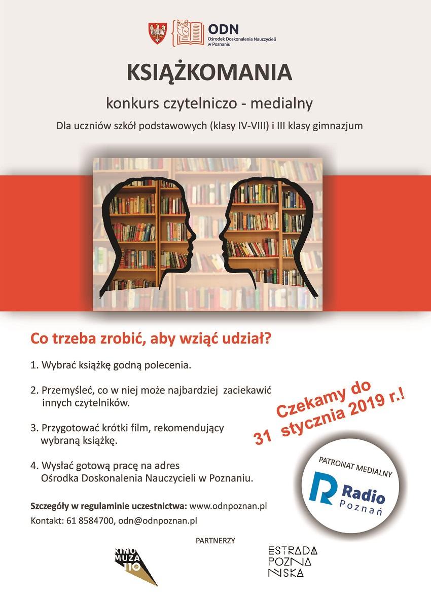 plakat ksiażkomania 2018-2019 - Materiały prasowe