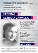 plakat przystanek historia elżbieta zawacka / FUNDACJA GENERAŁ ELŻBIETY ZAWACKIEJ