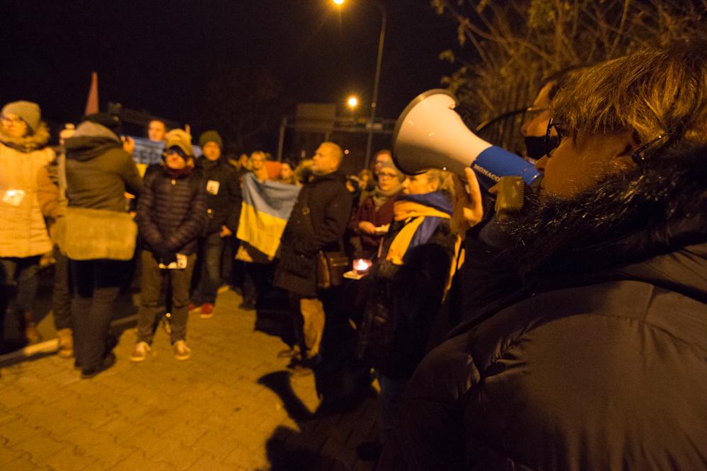 ambasada rosjii protest ukraina - Wojtek Wardejn - Radio Poznań