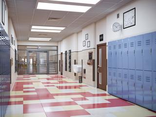 szkoła korytarz - Fotolia