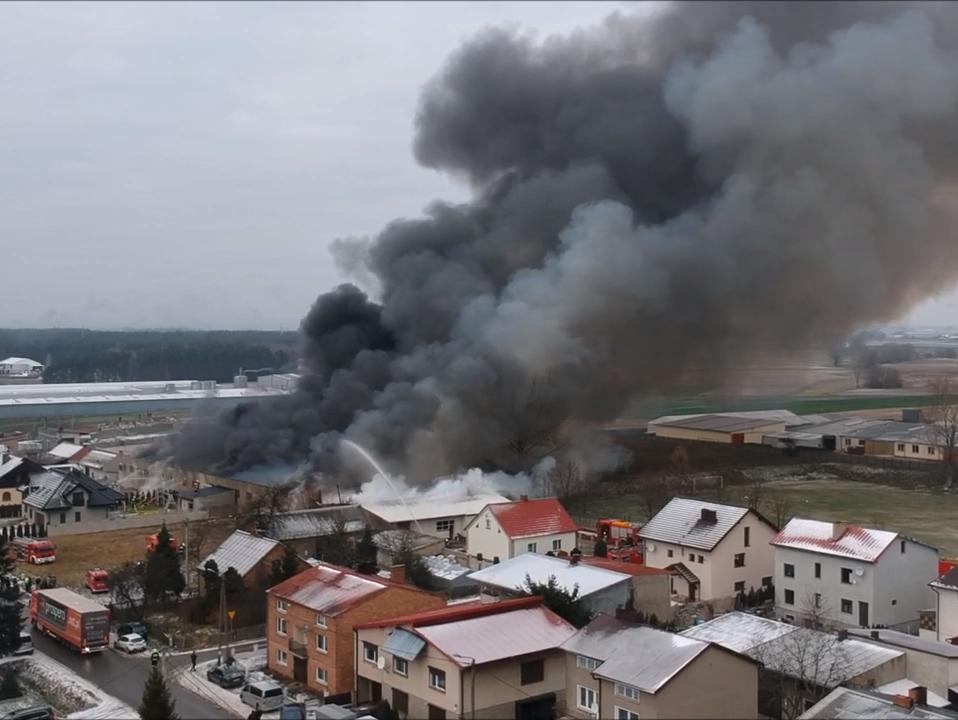 pożar Jankowy - http://www.tugazeta.pl/ - Youtube