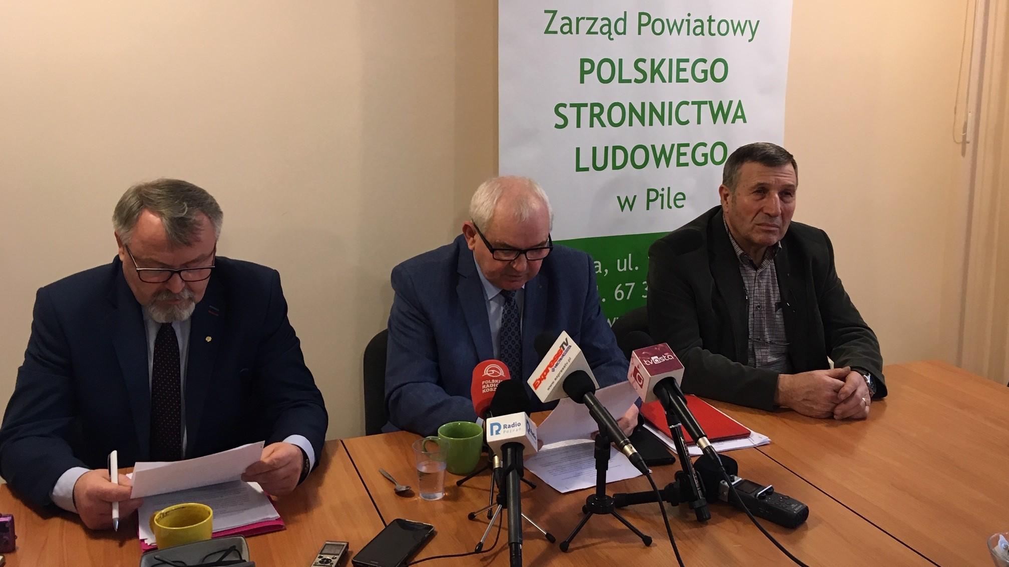 piła konferencja prasowa psl ludowcy - Przemysław Stochaj, Radio Poznań