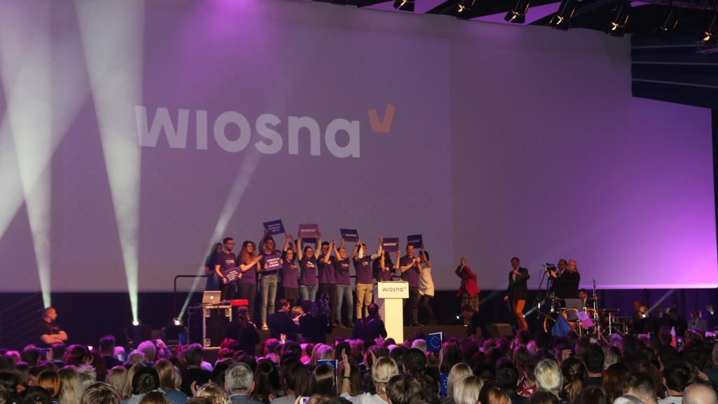 Robert Biedroń konwencja partii Wiosna Poznań - Jacek Butlewski