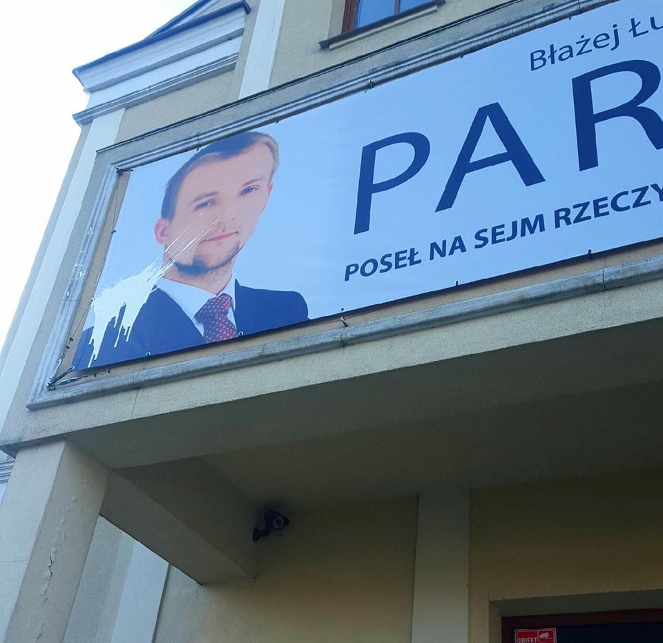 błażej parda farba atak biuro Piła - Przemysław Stochaj