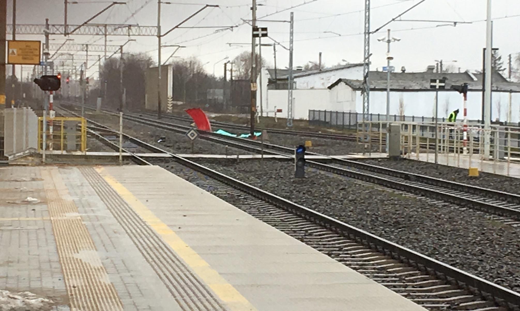 pobiedziska wypadek pociąg tory - Rafał Muniak