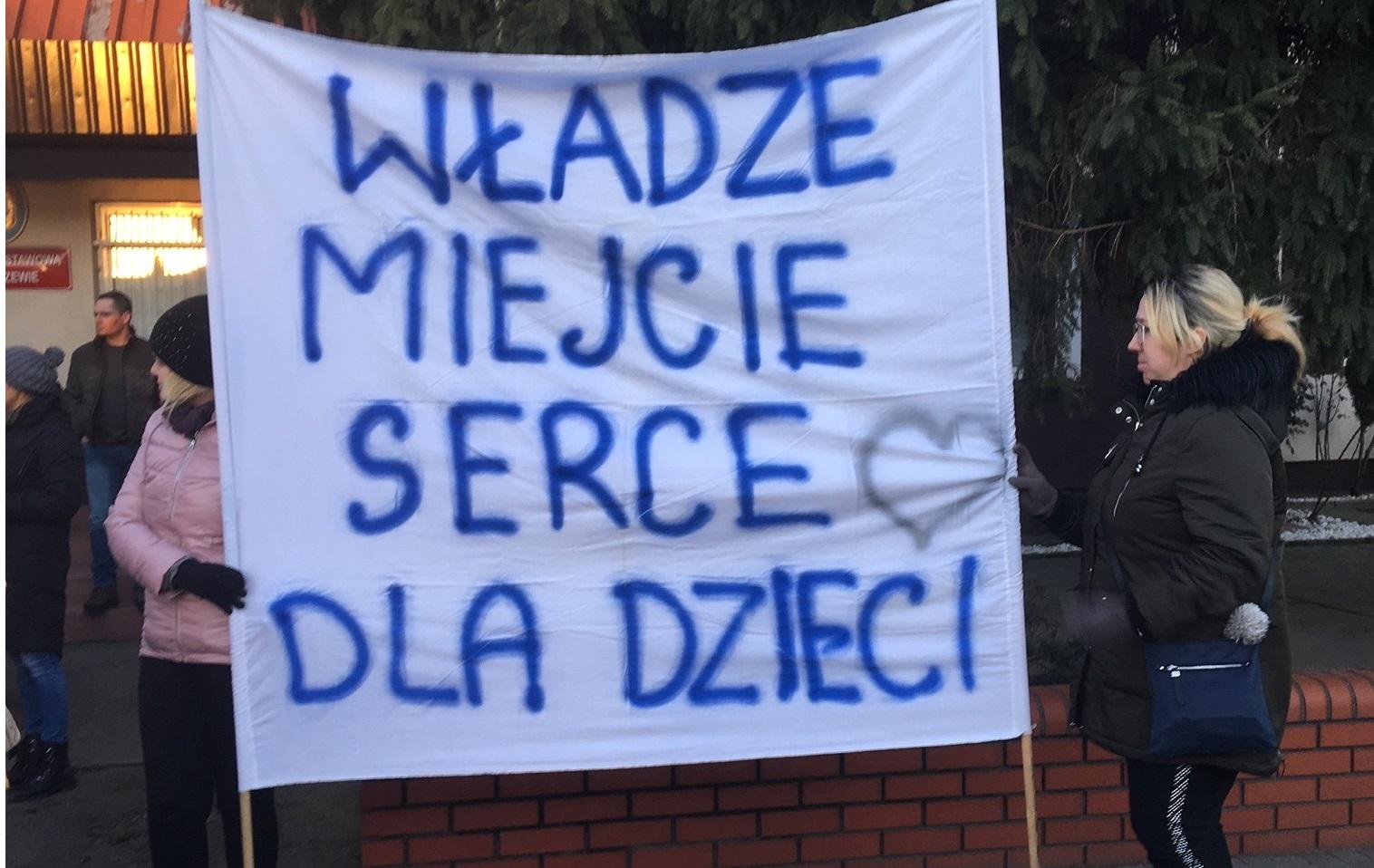 protest szkoła kościan - Jacek Marciniak