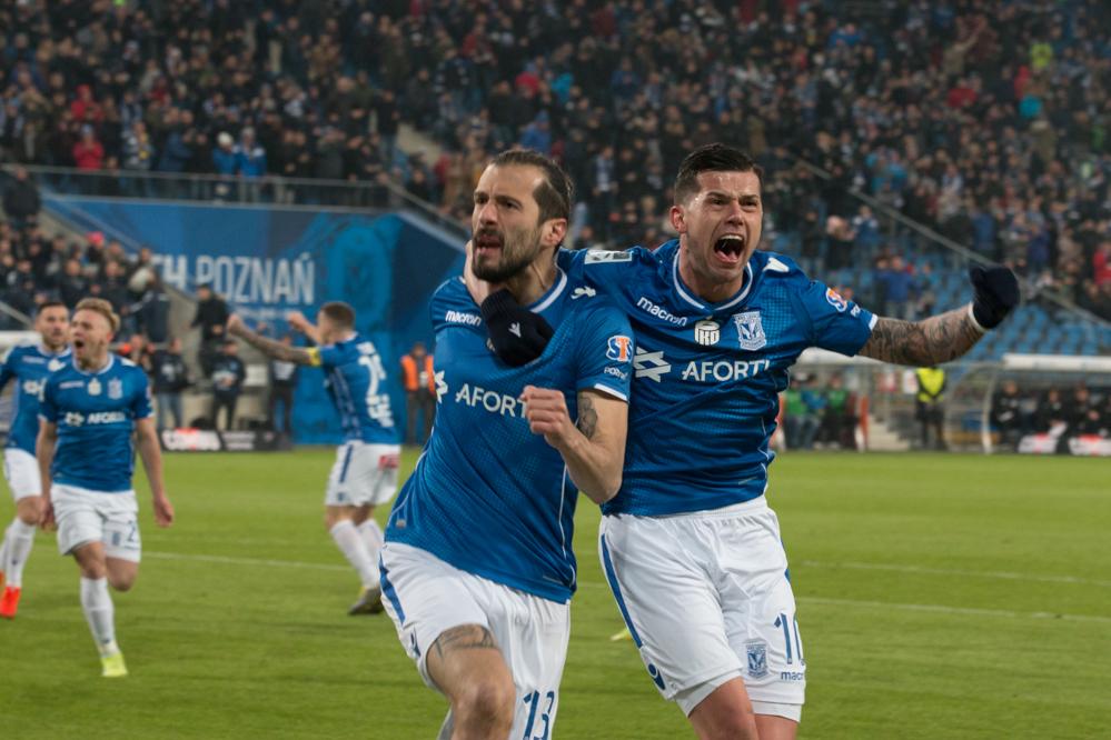 Lech Legia mecz kolejorz Jevtic - Leon Bielewicz
