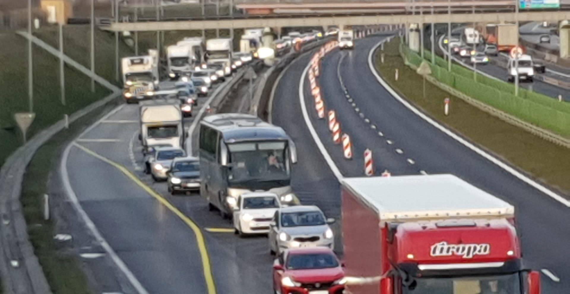 a2 autostrada korek - Michał Jędrkowiak