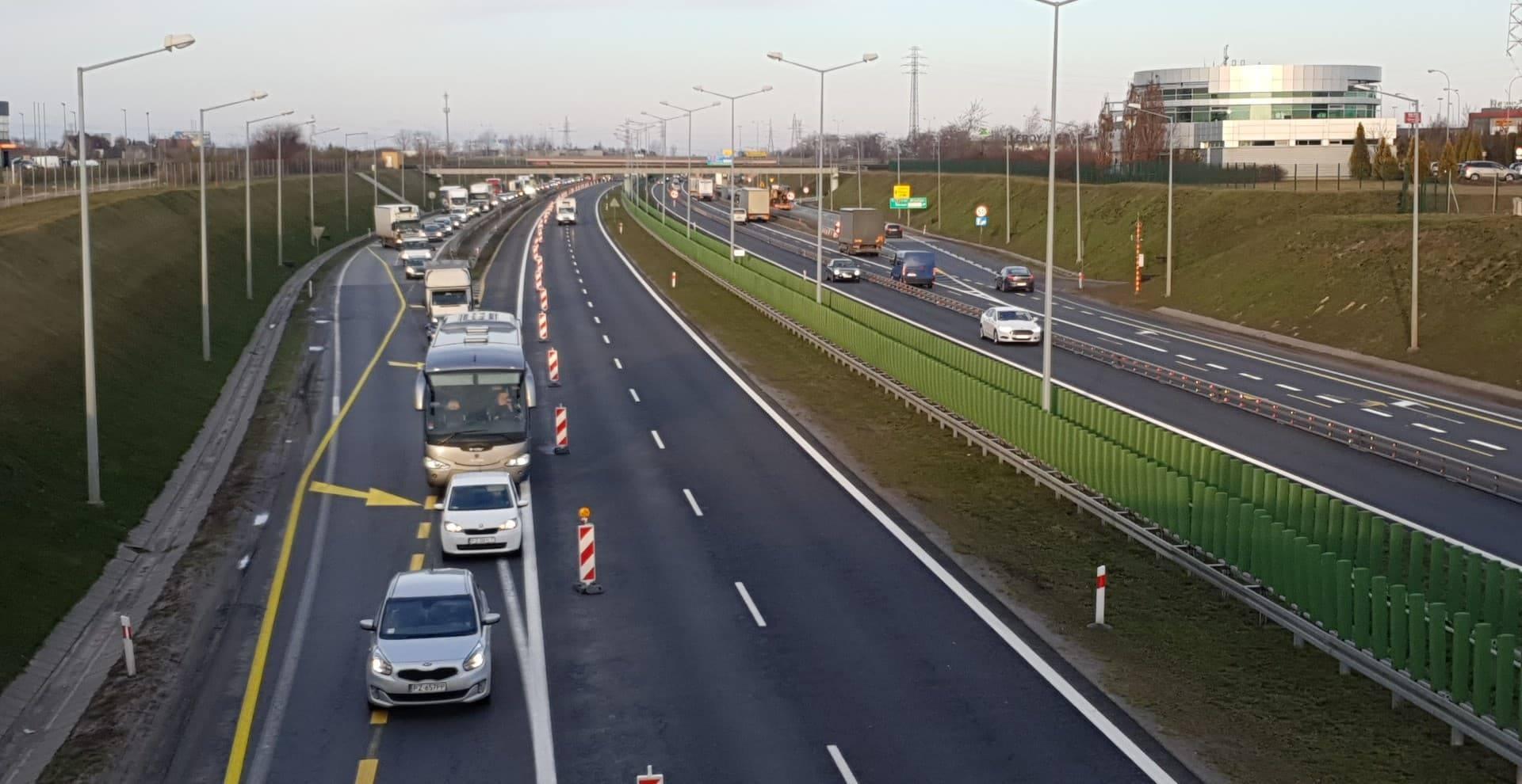 autostrada a2 remont korek - Michał Jędrkowiak