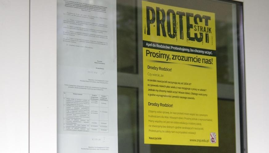 strajk nauczycieli - Radio Poznań