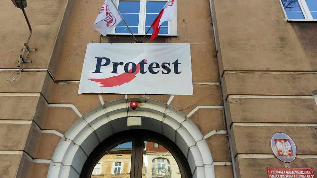 protest znp solidarność szkoła muzyczna poznań - Magdalena Konieczna
