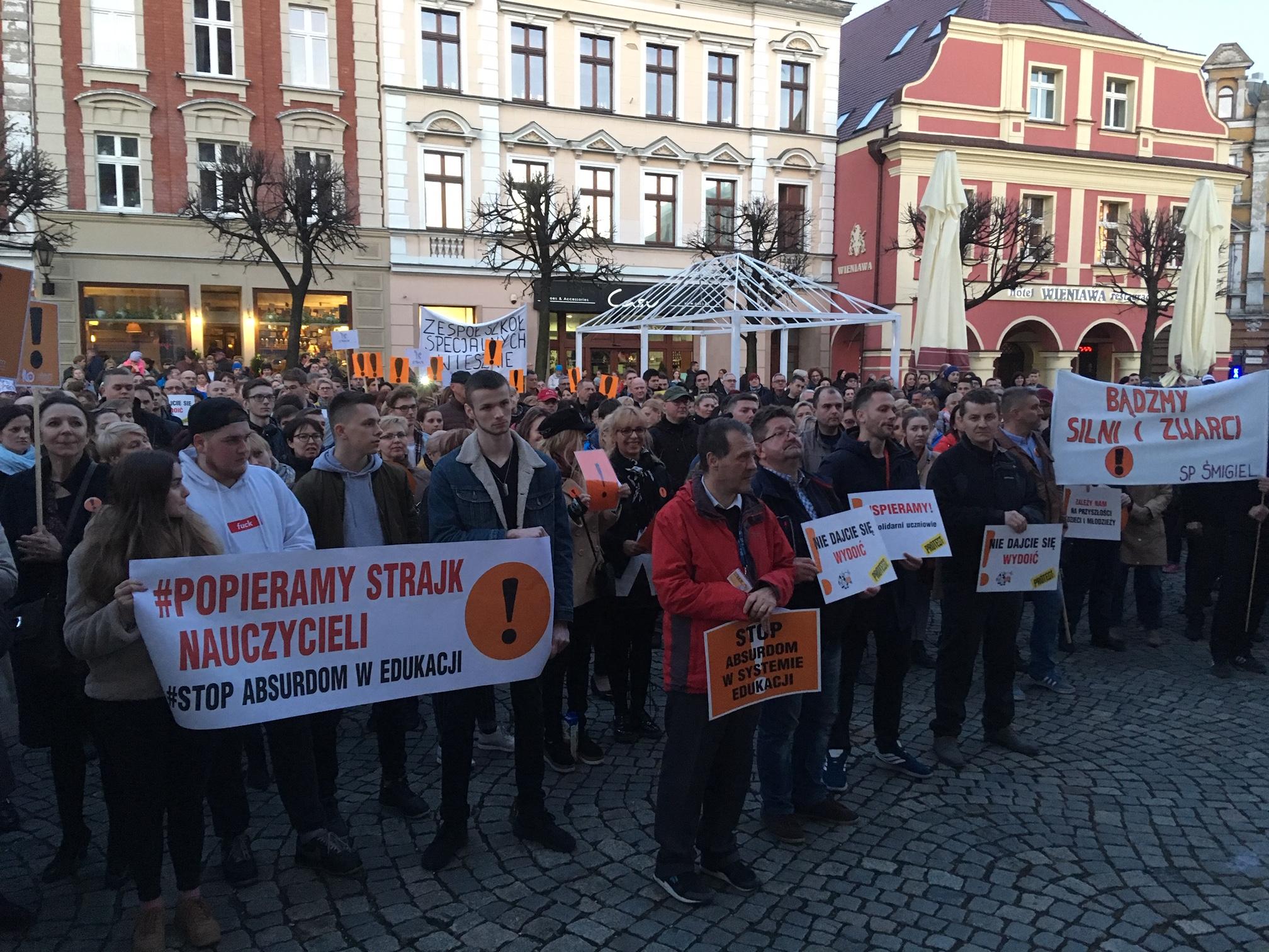 wiec poparcia nauczyciele strajk 2019 - Jacek Marciniak