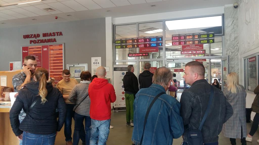 urząd miasta poznań kolejki spis wyborców wybory - Magdalena Konieczna