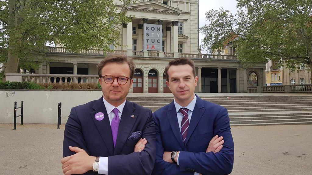 Michał Wawrykiewicz Adam Szłapka wybory - Hubert Jach