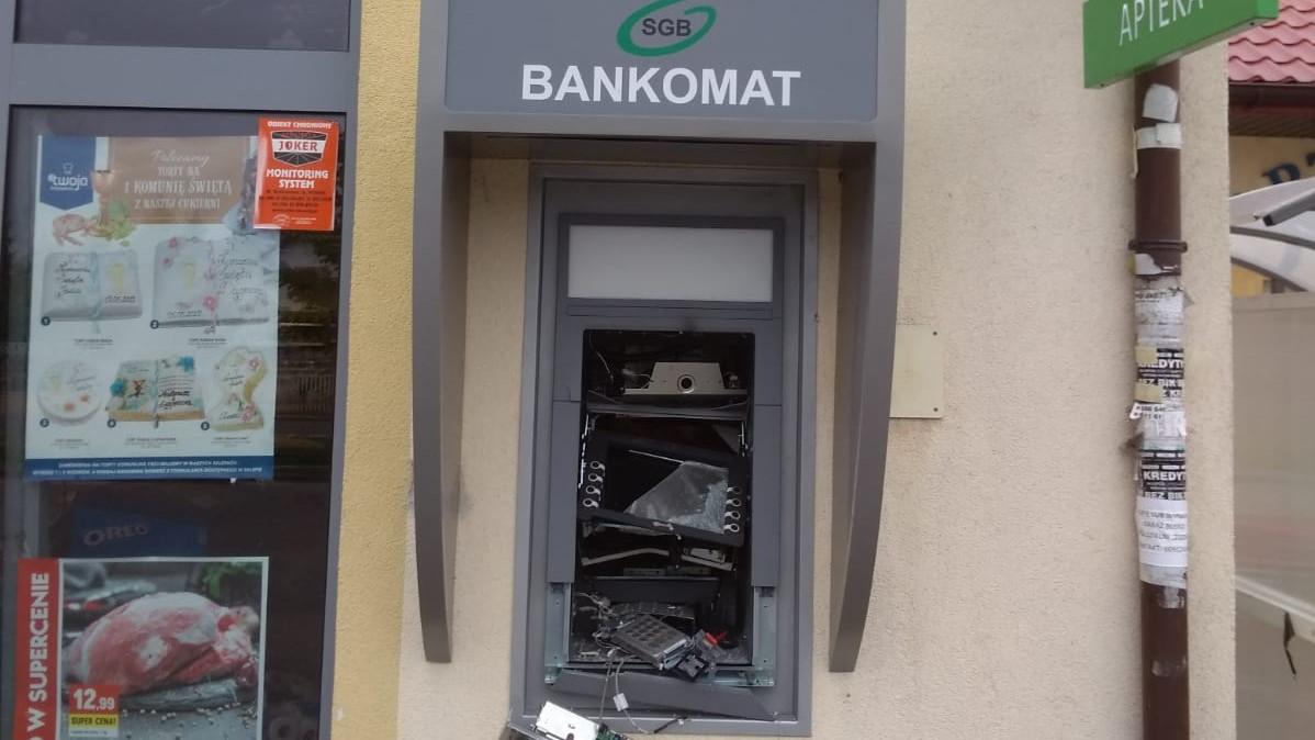 wysadzony bankomat konin - Policja Konin