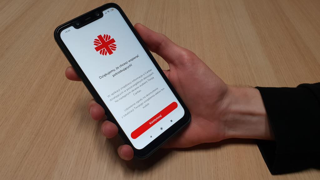 aplikacja caritas - Michał Jędrkowiak
