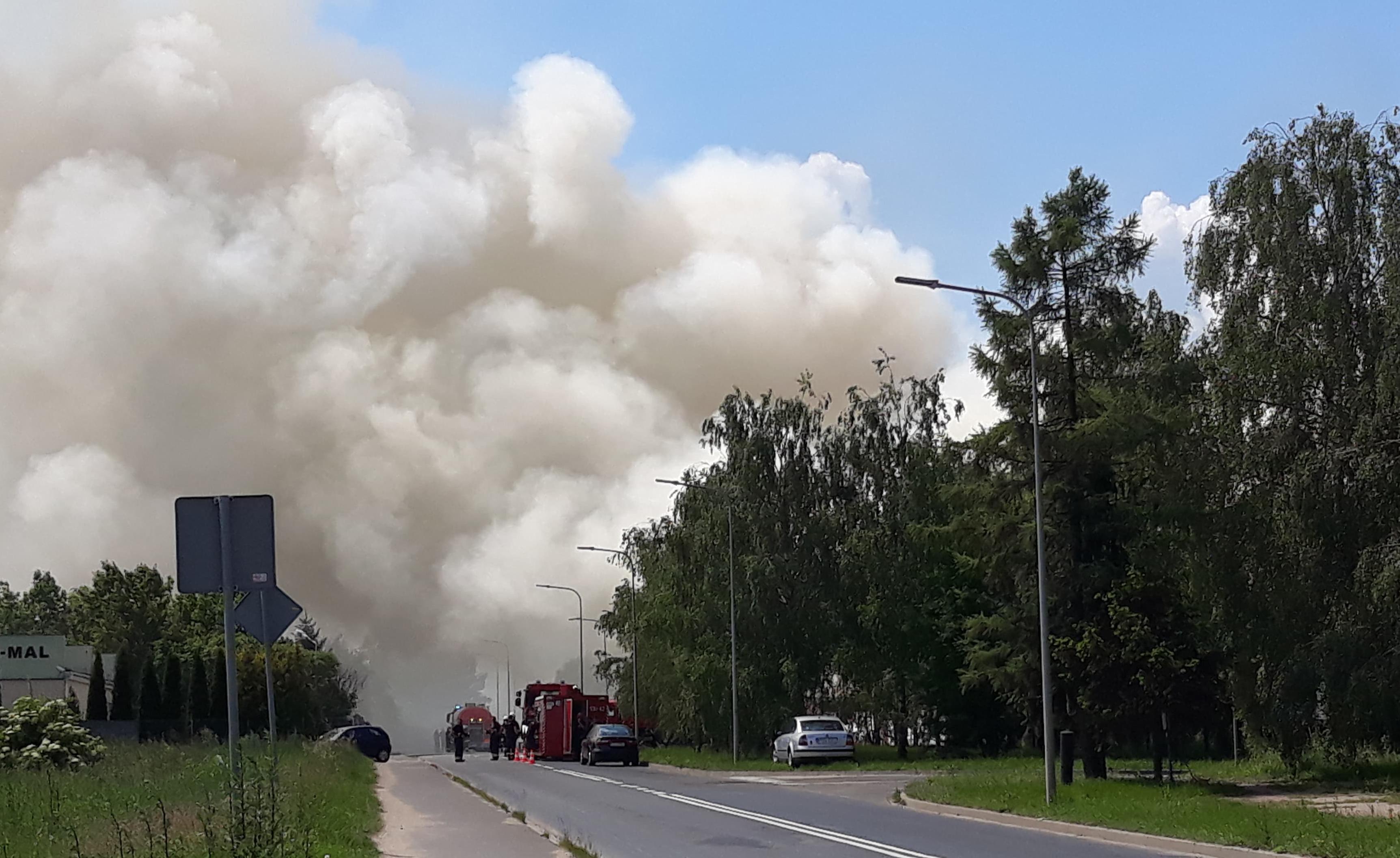 pożar wysypiska ostrów wlkp - Danuta Synkiewicz